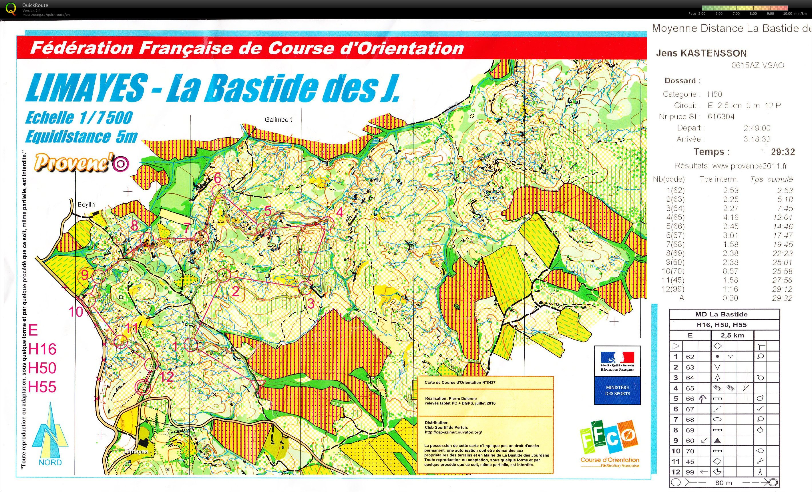 Nationale south-east Day 1 - Middle - H50 (19/05/2012)